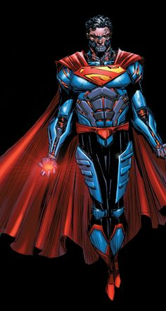 Cyborg Superman by Brian Ching Superman Suit, Supergirl Superman, Batman Vs Superman, Dc Anime, Anime Comics, Dc Comics Art, Marvel Dc Comics, Comic Book Artists, Comic Book Characters