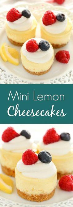 MINI LEMON CHEESECAKES   Mom's Food Recipe