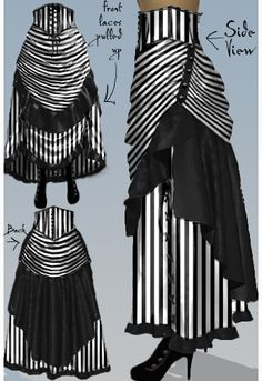 Victorian Steampunk Bustle Skirt -Amber Middaugh 2015
