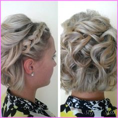nice Fancy updos for short hair