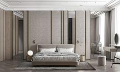 Bedroom Setup, Bedroom Bed Design, Bedroom Decor, Master Bedroom, Living Room Partition Design, Room Partition Designs, Zen House, Interior Architecture, Interior Design