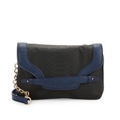 "Kensie Chainlink Crossbody Bag Dark Navy Combo kensie Chainlink Crossbody Bag Women's Dark Navy Combo.                                                 -Textured leatherette in a chic silhouette -Detachable shoulder strap, 24"" drop -Magnetic closure -Two inside open compartment   Lined -10""W X 7""H X 2""D -Polyurethane   Imported Kensie Bags Crossbody Bags"