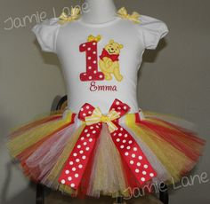 Hey, I found this really awesome Etsy listing at https://www.etsy.com/listing/233425225/winnie-the-pooh-bear-birthday-tutu