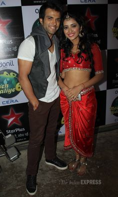 'Pavitra Rishta' actor Rithvik Dhanjani snapped along with his partner on the show and real life love interest Asha Negi. #Fashion #Style #Bollywood #Beauty