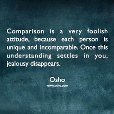 Osho on comparison