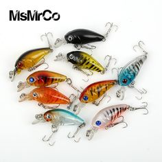 1 PCS 9 color Minnow super quality 4.5cm 4g lifelike crankbait fishing lure outdoor wobbler swim baits floating fishing tackle