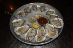 Fresh oysters from the Carolinas