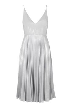 Photo 1 of Plunge Pleated Midi Dress #stylingmrsoliver