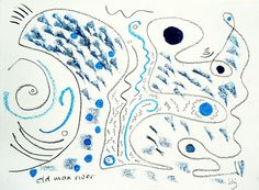 Drawing 128, River, by Barbara H Jensen,  allthingsbarbara on Etsy, $22.00