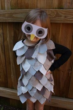grey owl halloween costume for little girls or boys, or even adults! by WeAreAllMadHere