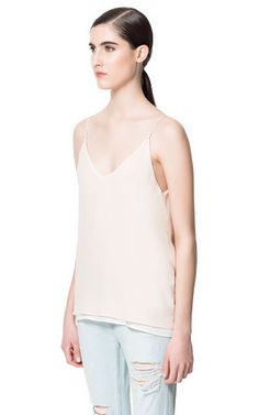 COMBINATION CAMISOLE TOP - Shirts - Woman - ZARA United Kingdom