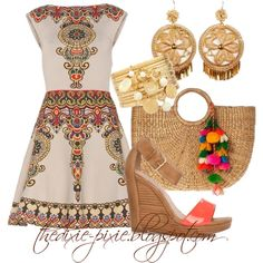 Fashion over Summer outfits. - Robin Fretwell - The Dixie Pixie - Spanish Style. Fashion over Summer outfits. Fashion over Summer outfits. Spanish Style Interiors, Spanish Style Decor, Summertime Outfits, Summer Outfits, Summer Dresses, Fashion Over 40, Love Fashion, High Fashion, Mens Fashion