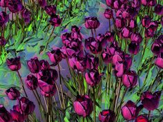 Life Is Beautiful by Music of the Heart The World's Greatest, Life Is Beautiful, Contemporary Artists, Tulips, Fine Art America, Digital Art, Backyard, Wall Art, Artwork
