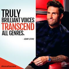 Adam Levine is looking for something truly brilliant this season on #TheVoice.