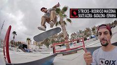 """5 Tricks – Rodrigo """"Maizena"""" na Espanha: 5 Tricks – Rodrigo Leal """"Maizena"""" na Espanha De… #Skatevideos #espanha #maizena #rodrigo #tricks"""