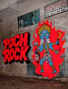 Poch Rock street art india