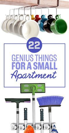 All of these are so brilliant -- 22 Genius Things Everyone With A Small Apartment Needs To Own                                                                                                                                                                                 More