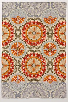Festival Rug #anthropologie. Orange.