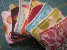 Sew pads to apply astringent, toner, or make-up remover--reduce waste of cotton balls and pads!
