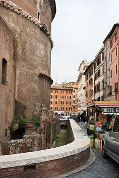 Rome, Lazio, Italy// One of my most favorite places that I visited in Rome. The road immediately behind the Pantheon <3