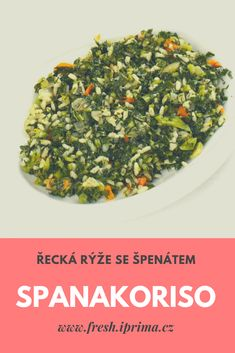 #spanakoriso #ryze #spenat #reckakuchyne #recept #primafresh How To Dry Basil, Feta, Herbs, Herb