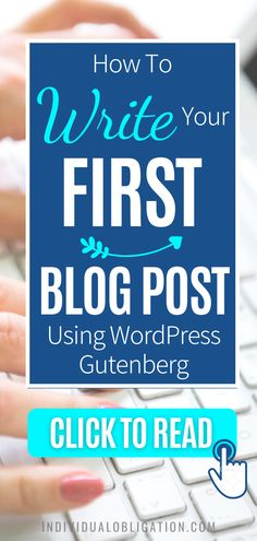 Blogging for beginners guide to write your first blog post on WordPress Gutenberg. These WordPress tips will show you how using WordPress Gutenberg can be done efficiently. Discover the simplest way to add text, format paragraphs, add images and more with this blogging 101 tutorial guide. Any blogging beginner can start with this guide and know how to start using the WordPress Gutenberg editor the easy way. #wordpresstips #bloggingtips #blogging #newblogger #blogtips #bloggingforbeginners Blog Writing Tips, Blog Tips, First Blog Post, Blogging For Beginners, Make Money Blogging, Editor, Wordpress, Easy, Tutorials