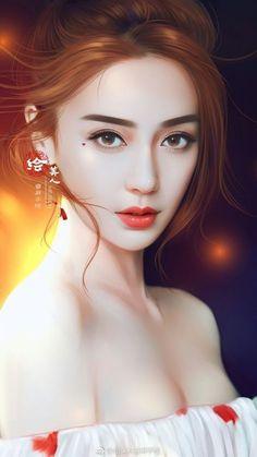 baby face Baby Face Art Girls 31 Ideas For 2019 Fantasy Girl, Chica Fantasy, Fantasy Art Women, Beautiful Fantasy Art, Beautiful Anime Girl, Beautiful Asian Girls, Lovely Girl Image, Angelababy, Painting Of Girl