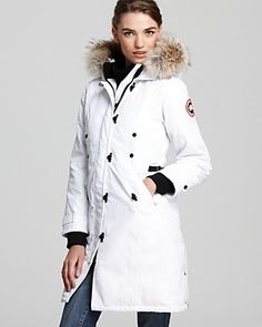 Canada Goose Kensington Parka | Bloomingdale's. Almost in tears how badly I want this coat!! Someday... Can't decide on the color... White is so beautiful but black would hide more wear and tear.