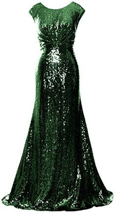 MACloth Women Mother of Bride Dresses Cap Sleeves Sequin Bridesmaid Formal Gown Concert Dresses, Sequin Bridesmaid, Sequin Gown, Cap Dress, Formal Gowns, Dress For You, Amazing Women, Evening Dresses, Fitted Dresses