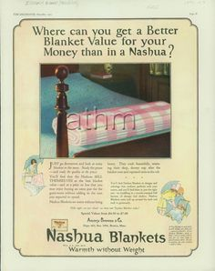 Where can you get a better blanket value for your money than in a Nashua?