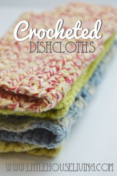 How to Make a Crocheted Dishcloth (picture tutorial) #makeyourown