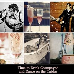 Time to drink champagne and dance on the tables!! #champagne #dance