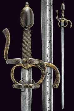 A fine gilded rapier, dating: circa 1600  provenance: France