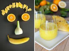 Gesund, bunt und lecker: Smoothies. Und sogar das Vorbereiten der Zutaten macht uns gute Laune. Hier findet ihr das Rezept für den fruchtig-frischen Ananas-Fenchel-Smoothie. http://www.fuersie.de/kitchen-girls/rezepte/blog-post/rezept-fuer-ananas-fenchel-smoothie