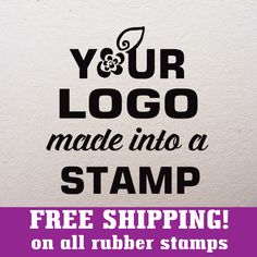 2 x 2 in. FREE SHIPPING! Custom rubber stamp with your logo, custom logo stamp, branding stamp, address stamp by SugarPlumStamps on Etsy https://www.etsy.com/listing/211335199/2-x-2-in-free-shipping-custom-rubber