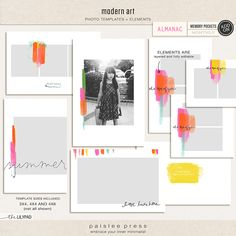 Memory Keeping // modern art | 3x4, 4x4, and 4x6 Photo Templates