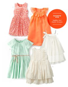Favorite Five Toddler Girl Easter Dresses from The Kids' Dept. for Momtastic.
