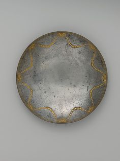 Saucer  Iran  17th- 18th C.  Steel, gold