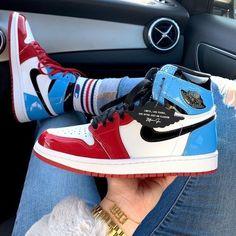 fearless jordan 1 Dr Shoes, Nike Air Shoes, Hype Shoes, Shoes Jordans, Retro Jordans, Nike Socks, Nike Air Jordans, Cute Jordans, Air Jordans Women