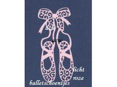 64) Stansjes oplegkaartjes 3x balletschoentjes