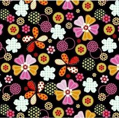 VelvaFleece Flower Dot Multi Floral Fleece Fabric Print by the yard o29489-3b
