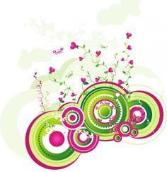 Pink Hearts Circles Abstract Vector Background - http://www.welovesolo.com/pink-hearts-circles-abstract-vector-background/
