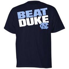 @Fanatics North Carolina Tar Heels (UNC) Beat Duke Slogan T-Shirt - Navy Blue #FanaticsWishList