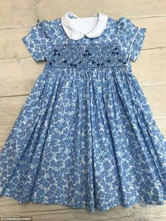 Little Alice London Periwinkle Dress - Princess Charlotte Dresses Girls Smocked Dresses, Little Girl Dresses, Princess Charlotte Dresses, Punto Smok, Periwinkle Dress, Smock Dress, Toddler Dress, Kind Mode, Smoking