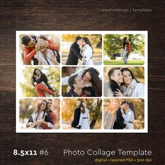 Heart photo collage template psd wedding gift anniversary gift photo collage template 85 x 11 6 9 photo storyboard template with normal rounded corners photographer template psd template by alexprodesign on etsy maxwellsz