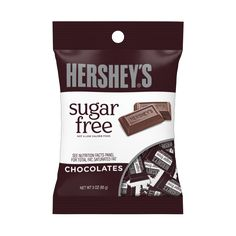 Hershey's Sugar Free Milk Chocolate Peg Bag - 3 oz Perfect for filling your candy dish Individually wrapped Sugar-free A kosher candy Includes 1 bag of Hershey's Sugar Free Chocolate Candy bag) Sugar Free Milk, Sugar Free Treats, Sugar Free Candy, Sugar Free Desserts, Hershey Chocolate Bar, Gluten Free Chocolate, Chocolate Sticks, Chocolate Chocolate, Chocolate Treats