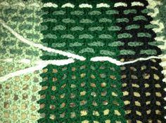 Crocheted tartan afghan (not a free pattern)