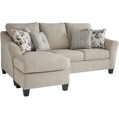 Couch With Chaise, Chaise Sofa, Sleeper Sofa, Sofa Bed, Living Room Sofa, Home Living Room, Living Room Furniture, Sectional Furniture, Sectional Sofas