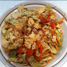 Made with nappa cabbage. Napa Cabbage, Chicken Salad, Shanghai, Kale, Salads, Skinny, Ethnic Recipes, Food, Collard Greens