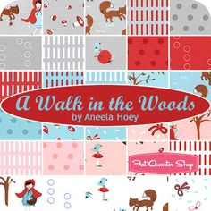 Little Red and the Wolf fat quarters - love!